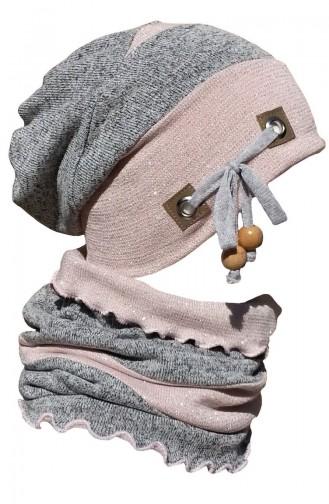 Şapka Boyunluk Takım NSB27 Pudra Gri
