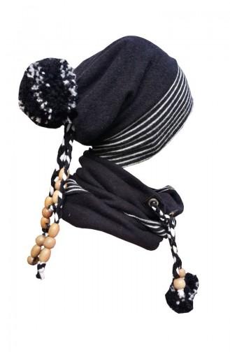 Şapka Boyunluk Takım NSB28 Gri Siyah