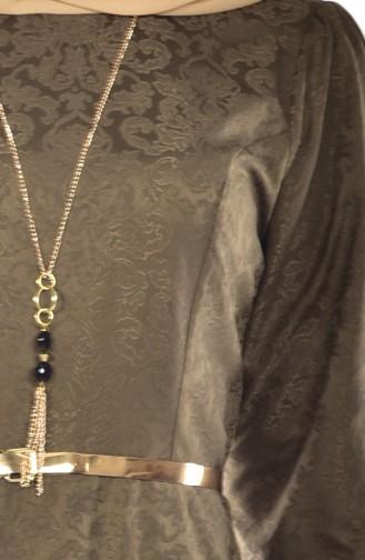 Sefamerve Robe a Ceinture 3951-08 Vert Khaki 3951-08