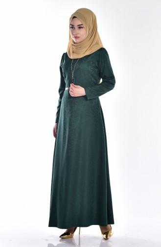 W. B Belted Dress 3951-06 Emerald Green 3951-06
