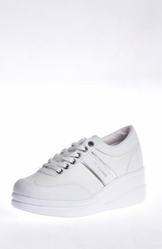 Platform Sports Shoes 0102-01 White 0102-01