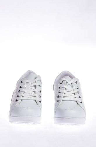 ALLFORCE Platformlu Spor Ayakkabı 0107-02 Beyaz 0107-02