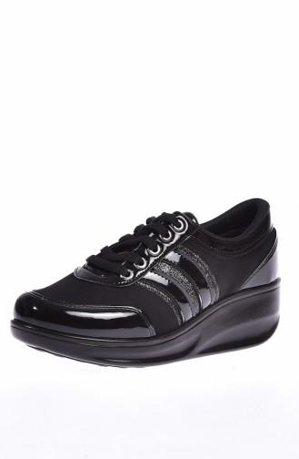 ALLFORCE Bayan Spor Ayakkabı 0116-01 Siyah Rugan 0116-01