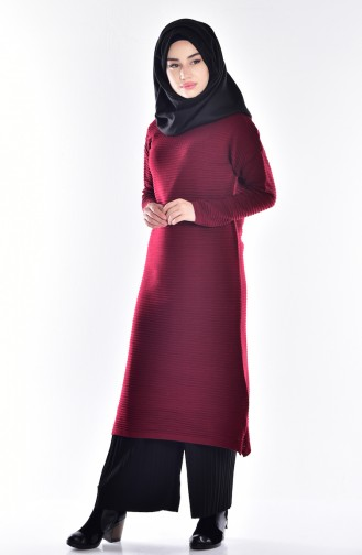 Claret red Sweater 3148-06