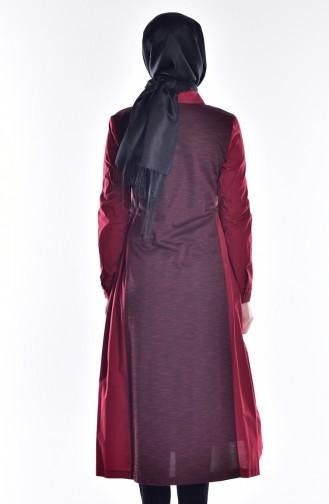 Claret red Overhemdblouse 50166-01
