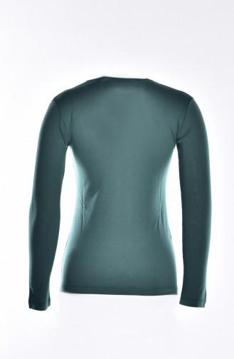 Sefamerve Combed Cotton Under Dress Slip-Top 0761-05 Jade Green 0761-05