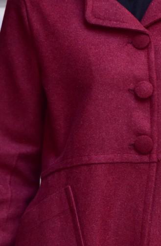 Fleece Cape mit Tasche 2510-02 Weinrot 2510-02