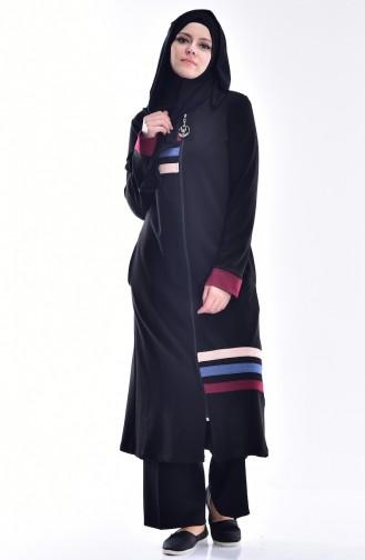 Garni Coat with Zipper 99095A01 Black 99095A-01