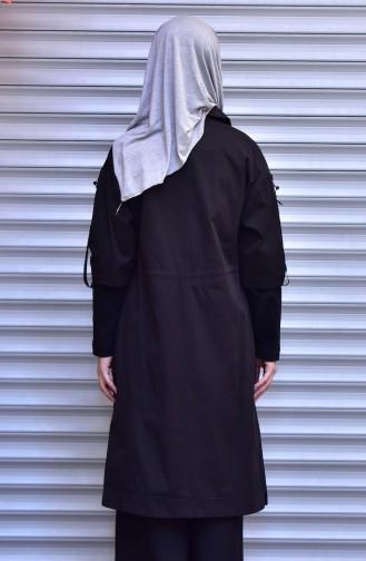 شوكران كاب بتصميم سحاب 35772-04 لون أسود 35772-04