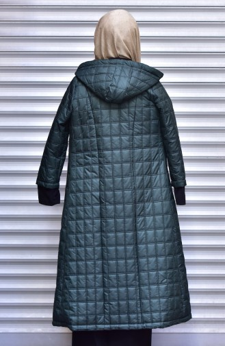 SUKRAN Hooded Quilted Coat 35780-02 Green 35780-02