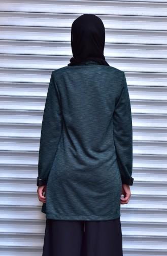 Ensemble Deux Pieces Veste Blouse 9085-04 Vert emeraude 9085-04
