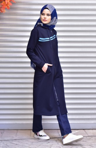 Navy Blue Mantel 1514-06