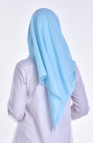 Drapeli Çapraz Bone Şal 0011-11 Bebe Mavi