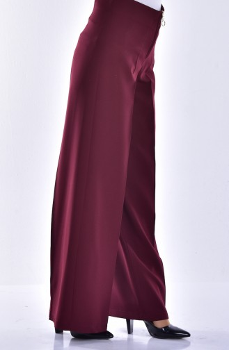 Pantalon Large a Fermeture 3095-03 Bordeaux 3095-03