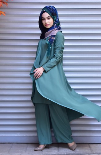 Sefamerve Triple Suit 6010-05 Almond Green 6010-05