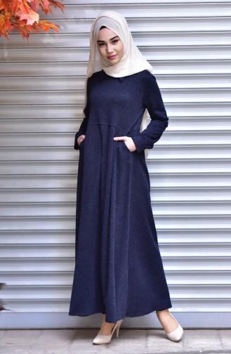 فستان أزرق كحلي 1127-02