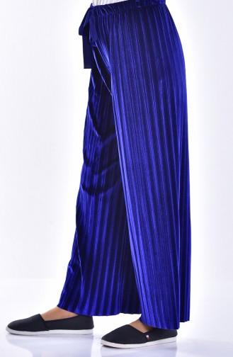 Pantalon Plissé Velours 2501-01 Bleu Roi 2501-01