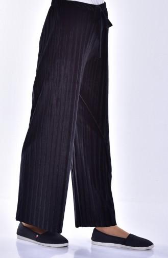 Pleated Velvet Trousers 2501-06 Black 2501-06