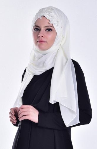 Ecru Ready to wear Turban 01
