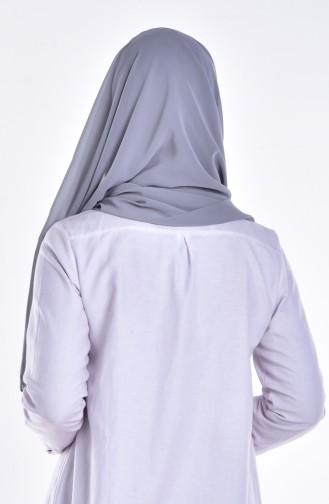 Châle Bonnet Lacé 0010-11 Gris Foncé 11