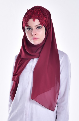 Claret red Ready to wear Turban 12