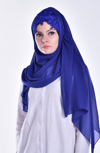 Saxon blue Ready to wear Turban 16