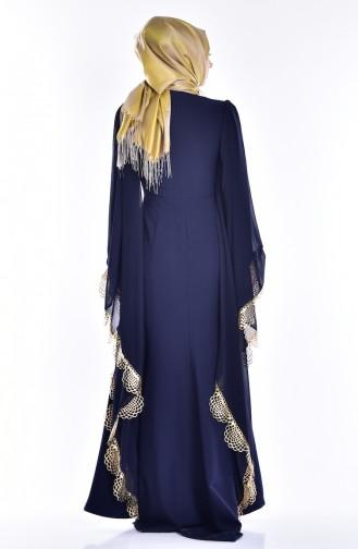 Habillé Hijab Bleu Marine 2030-02