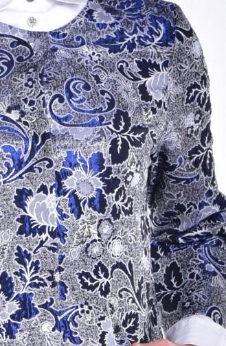 Ensemble Deux Pieces Veste Pantalon 8002-01 Gris Bleu Marine 8002-01