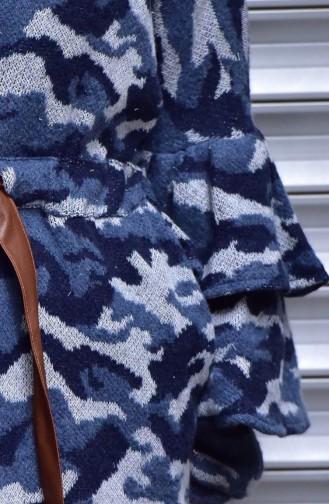 كارديجان بتصميم مطبع وحزام مزموم عند الخصر 4558-02