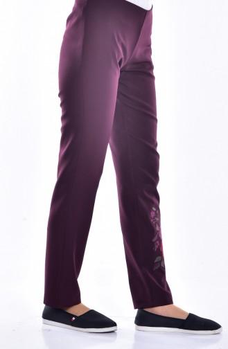 Dark Claret Red Pants 7151-08
