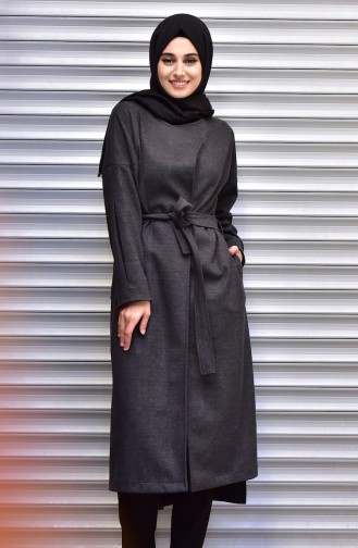 SUKRAN Belted Cape 35799-01 Gray 35799-01