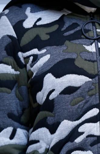 Camouflage Gemusterte Cape 15268-01 Grün Grau 15268-01