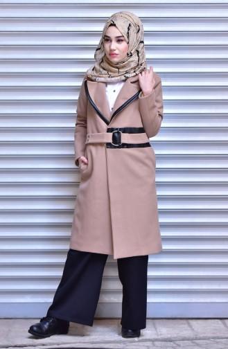 Camel Long Coat 4574-06