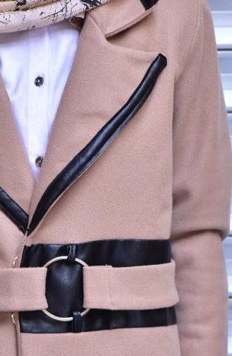 معطف بتصميم حزام للخصر 4574-06