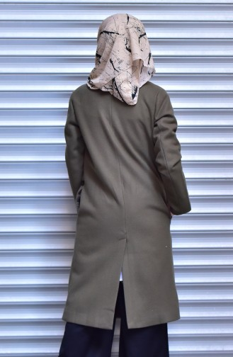 Khaki Long Coat 4574-04