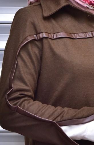 Cape mit versteckten Knöpfen 35800-06 Khaki 35800-06