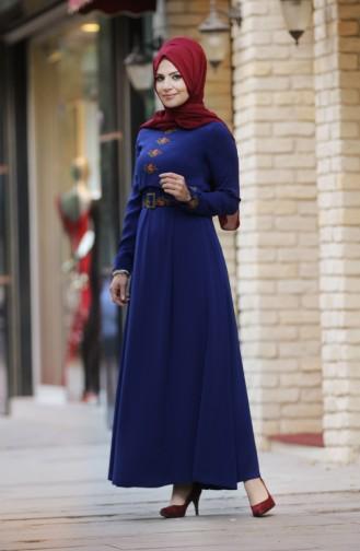 ميف ارسلان - فستان بتصميم مطرز  0008-03