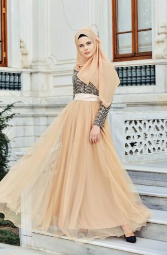 Silbriges Abendkleid 9546-02 Gold 9546-02