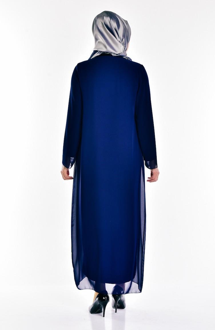 bace55509f72f Navy Blue Islamic Clothing Evening Dress 5919-01