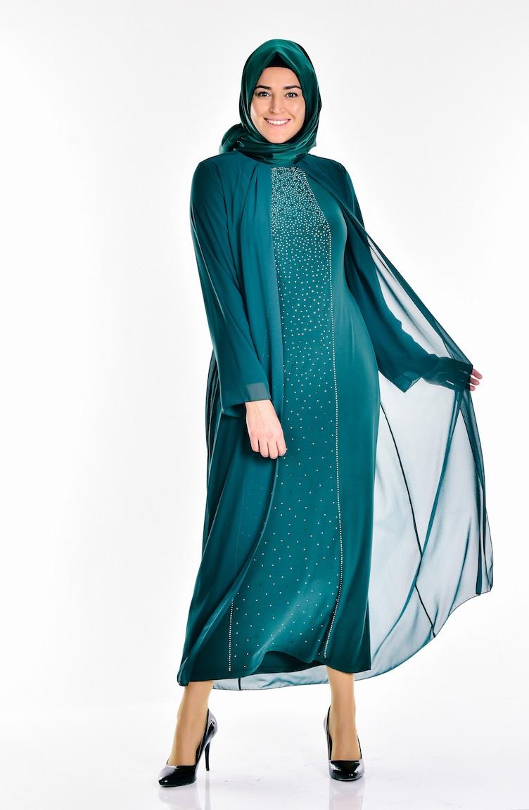 7631149c6b676 Emerald Islamic Clothing Evening Dress 5919-03 ...