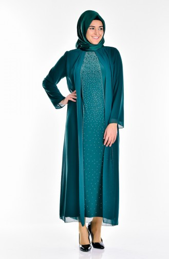 Emerald Islamic Clothing Evening Dress 5919-03
