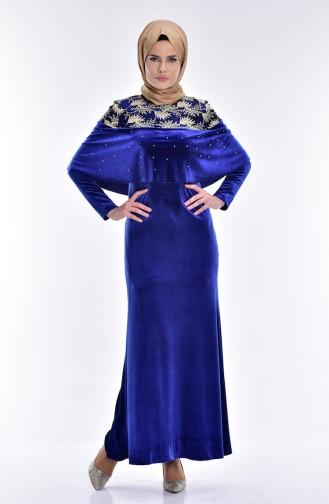 Saxon blue İslamitische Jurk 7011-01
