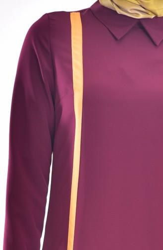 Shirt Neck Tunic 1393-04 Maroon 1393-04