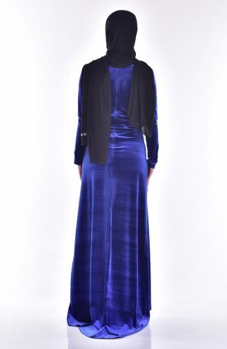 Samt Kleid mit Pailetten 9012-05 Saks 9012-05