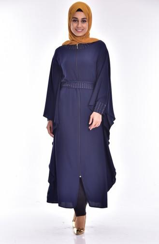 Navy Blue Abaya 4024-04