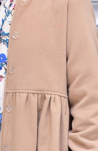 Hidden Buttoned Cache Coat 0850-05 Dark Cream 0850-05