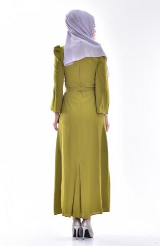 Khaki İslamitische Jurk 0032-04
