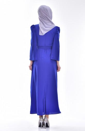 Kleid mit Gürtel 0032-06 Saks 0032-06