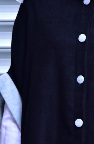 Poncho Garnie a Boutons 1936-01 Noir 1936-01