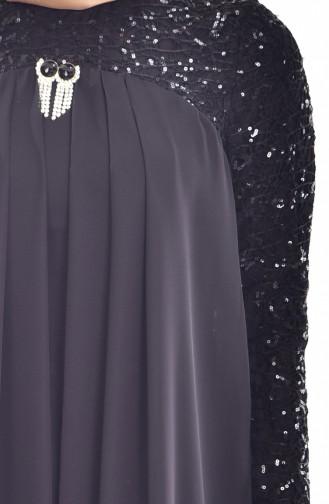 فستان من الشيفون بتفاصيل من الترتر 52651-01
